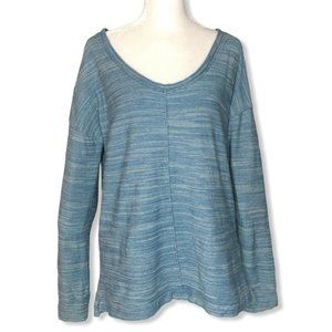 Mercer & Madison Sz S Top Pullover Blue Scoop Neck